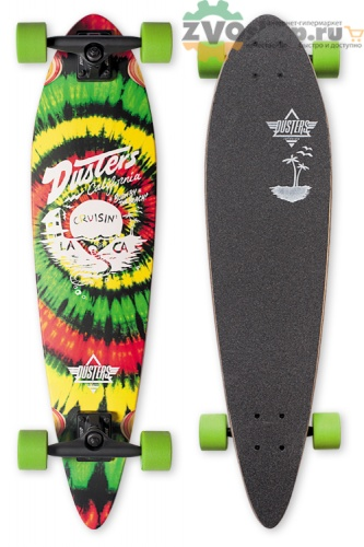 Лонгборды Dusters S6 Cruisin Longboards Rasta 34 in 8,25